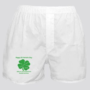 St Patricks Day Personalized Boxer Shorts