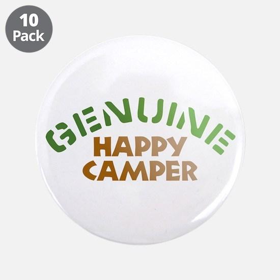 "Genuine Happy Camper 3.5"" Button (10 pack)"