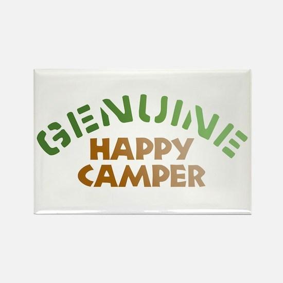 Genuine Happy Camper Rectangle Magnet (10 pack)