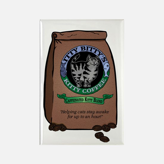 Caffeinated Kitty Blend Rectangle Magnet