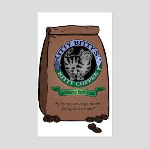 Caffeinated Kitty Blend Rectangle Sticker