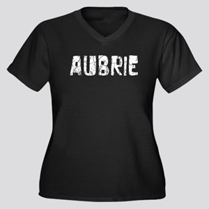 Aubrie Faded (Silver) Women's Plus Size V-Neck Dar