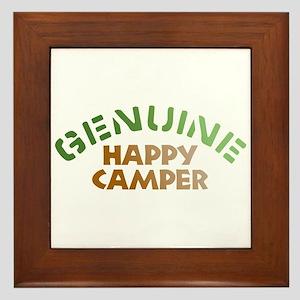 Genuine Happy Camper Framed Tile