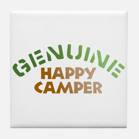 Genuine Happy Camper Tile Coaster