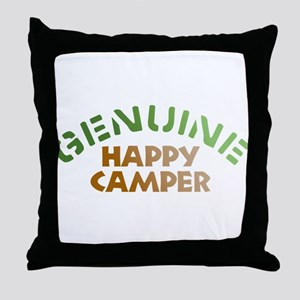 Genuine Happy Camper Throw Pillow