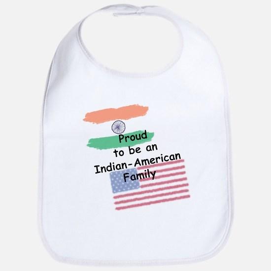 Indian-American Family Baby Bib