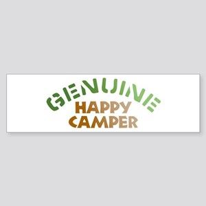 Genuine Happy Camper Bumper Sticker