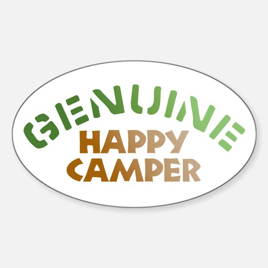 Genuine Happy Camper Oval Decal