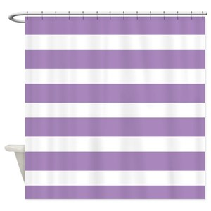 Purple Horizontal Striped Shower Curtains