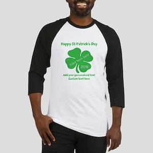 St Patricks Day Personalized Baseball Jersey