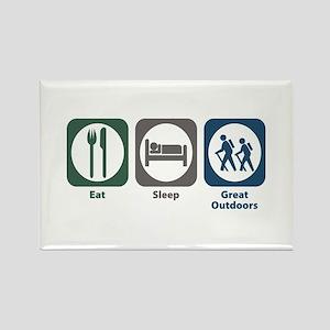 Eat Sleep Great Outdoors Rectangle Magnet