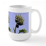 Budding Business Sunflower-Blue -Custom Large Mug