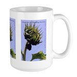 Sunflower Budding Business-Large Mug