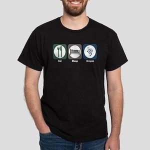 Eat Sleep Grapes Dark T-Shirt
