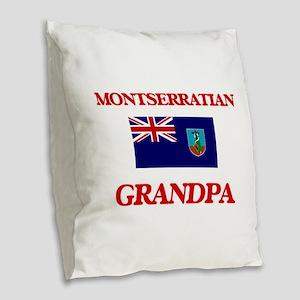 Montserratian Grandpa Burlap Throw Pillow