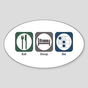 Eat Sleep Go Oval Sticker