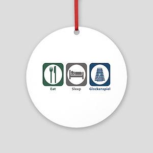Eat Sleep Glockenspiel Ornament (Round)