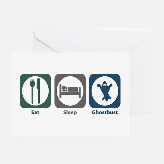 Eat Sleep Ghostbust Greeting Card