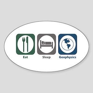 Eat Sleep Geophysics Oval Sticker