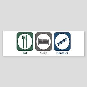 Eat Sleep Genetics Bumper Sticker