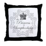 The Princess Is Scrapbooking Throw Pillow