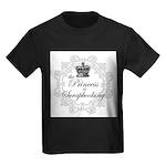 The Princess Is Scrapbooking Kids Dark T-Shirt