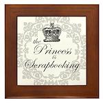 The Princess Is Scrapbooking Framed Tile