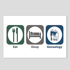 Eat Sleep Genealogy Postcards (Package of 8)