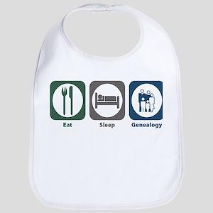 Eat Sleep Genealogy Bib