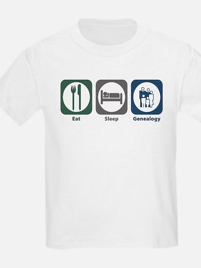 Eat Sleep Genealogy T-Shirt