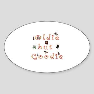 Oldie but Goodie Oval Sticker