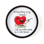 Scrapbooking and Chocolate Pa Wall Clock