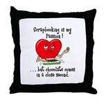 Scrapbooking and Chocolate Pa Throw Pillow