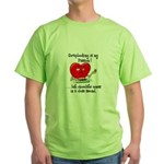 Scrapbooking and Chocolate Pa Green T-Shirt