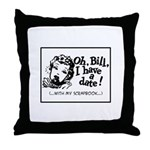 A Date With My Scrapbook Throw Pillow
