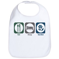 Eat Sleep Garden Bib