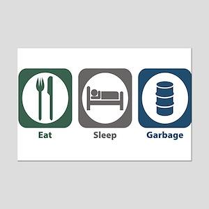 Eat Sleep Garbage Mini Poster Print