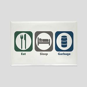 Eat Sleep Garbage Rectangle Magnet