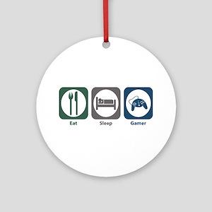 Eat Sleep Gamer Ornament (Round)