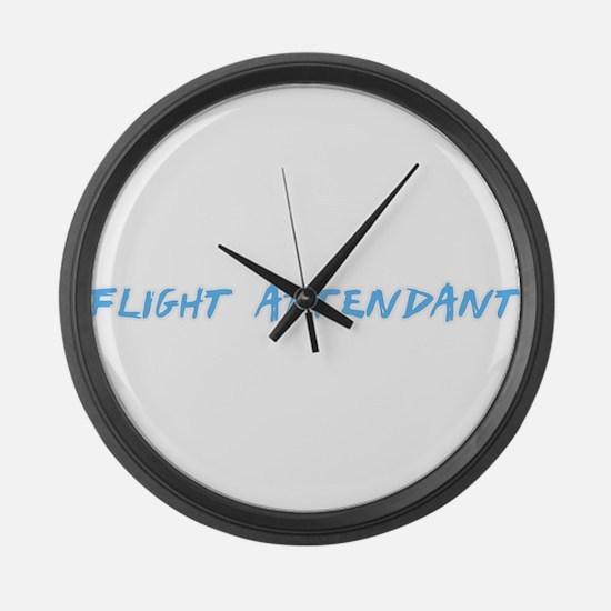 Flight Attendant Profession Desig Large Wall Clock