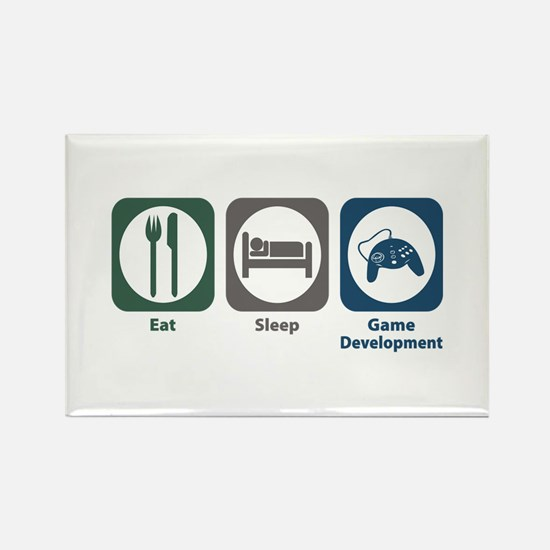 Eat Sleep Game Development Rectangle Magnet (10 pa