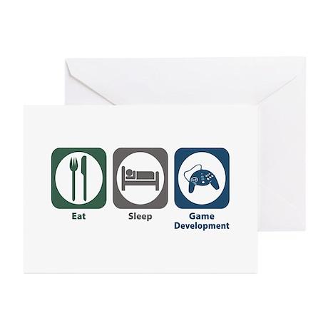 Eat Sleep Game Development Greeting Cards (Pk of 1