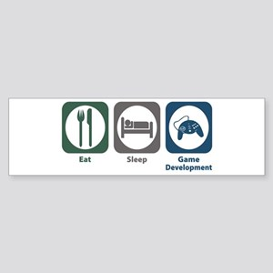 Eat Sleep Game Development Bumper Sticker