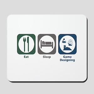 Eat Sleep Game Designing Mousepad