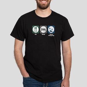 Eat Sleep Game Designing Dark T-Shirt