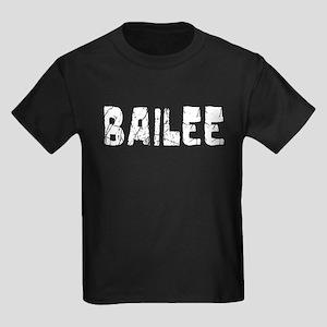 Bailee Faded (Silver) Kids Dark T-Shirt