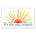 It's the Sun, Stupid Rectangle Sticker 50 pk)