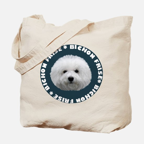 bichon pet portrait Tote Bag