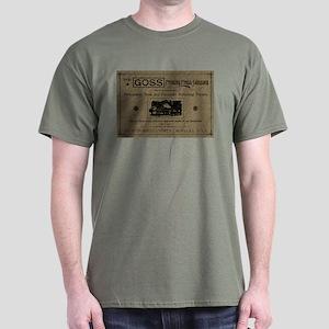Dark T-Shirt-Goss ad-old paper