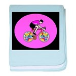 Abstract Bicycle Riding Print baby blanket